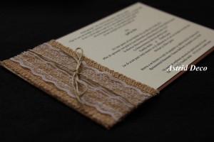 Invitatie nunta - Rustica