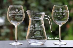 Set vin gravat - Nunta de Argint