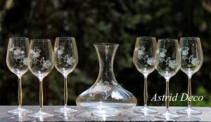Set vin cristal gravat - vita de vie