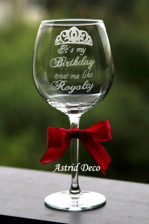 Pahar vin - Birthday Royalty