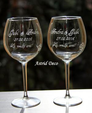 Set 2 pahare de vin - Aniversare