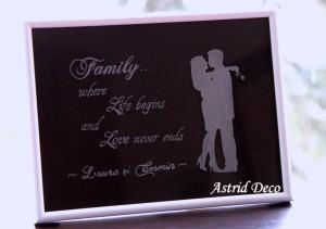 Tablou gravat manual - Family 3
