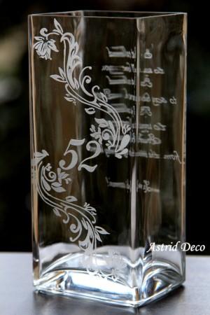 Vaza gravata - Aniversare X ani