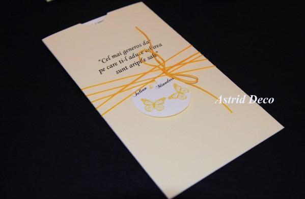 Invitatie Nunta Fluturi Galbeni