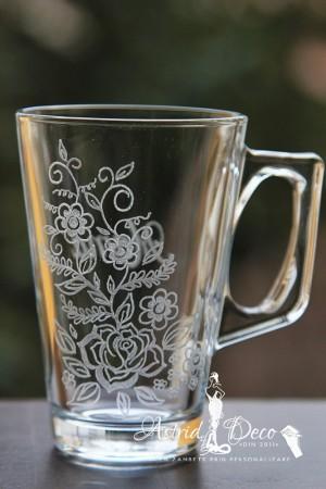 Cana gravata - model floral