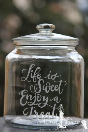 Borcan -Cookie Jar- gravat manual - Life is sweet