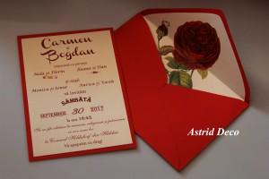 Invitatie nunta - Red Rose