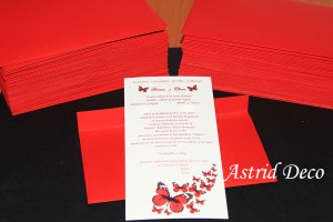 Invitatie nunta - fluturi