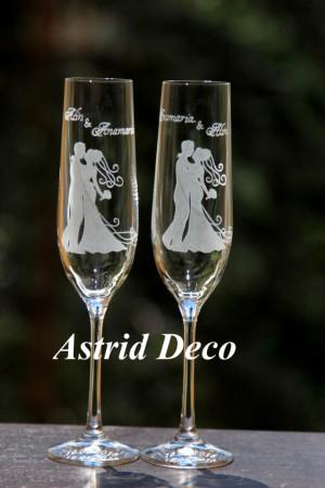 Pahare de Cristal - Miri - gravate manual pg66