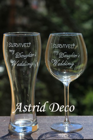 Set pentru parinti - Survived the wedding