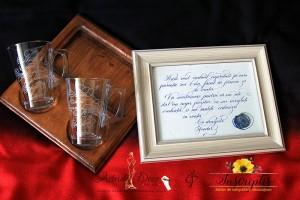 Set caligrafiat - Nasii de botez