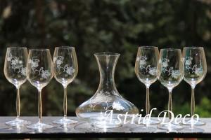Set vin cristal gravat manual - vita de vie