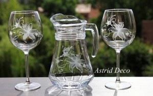Set vin gravat manual- Floral