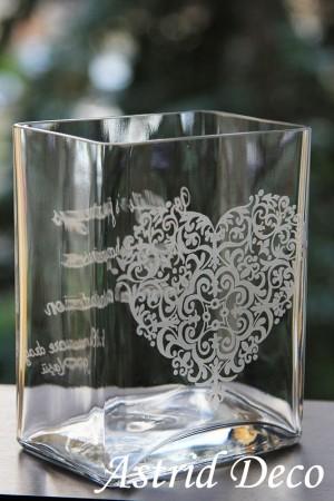 Vaza gravata manual - Inima